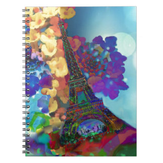 Paris dreams of flowers notebook
