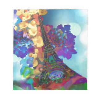 Paris dreams of flowers notepad