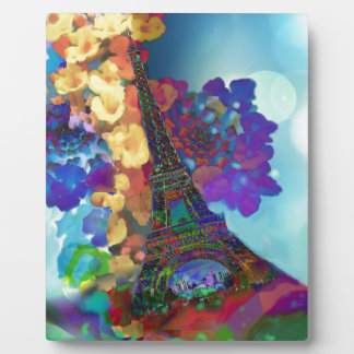 Paris dreams of flowers plaque