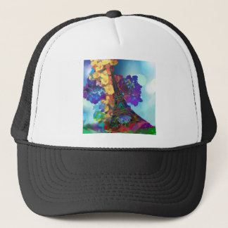 Paris dreams of flowers trucker hat