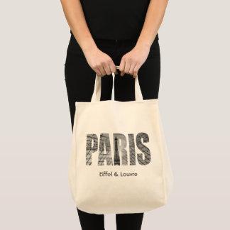 Paris - Eiffel & Louvre Tote Bag