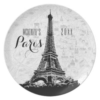 Paris Eiffel Tower Add Your Name Plate