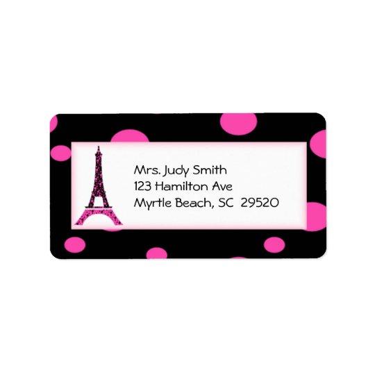 Paris Eiffel Tower Address Labels
