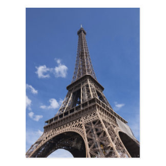 Paris Eiffel Tower against blue summer sky Postcard