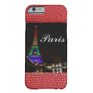 Paris Eiffel Tower Alligator Print Barely There iPhone 6 Case