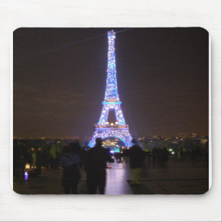 Paris Eiffel Tower at Night Mouse Pad