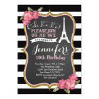 Paris Eiffel Tower Birthday Party Invitation