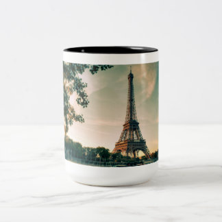 Paris Eiffel Tower Black 15 oz Two-Tone Mug