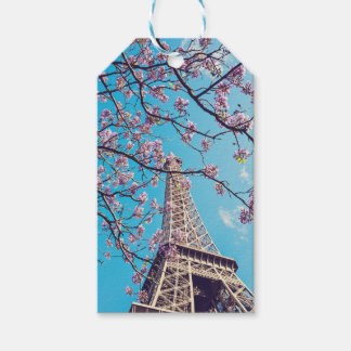 Paris Eiffel Tower Blooms in Springtime Gift Tags