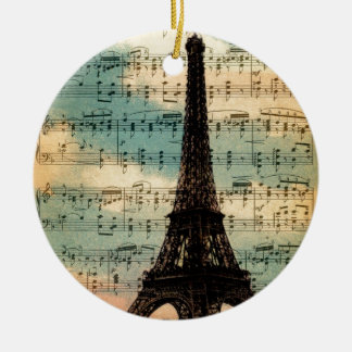 Paris Eiffel Tower Ceramic Ornament