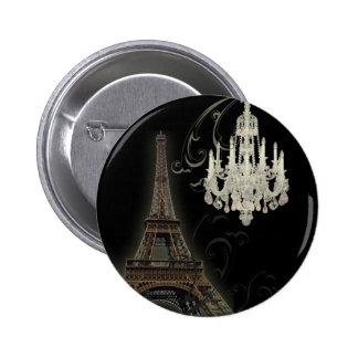 Paris Eiffel Tower Chandelier vintage wedding 2 Inch Round Button