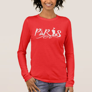Paris Eiffel Tower City Of Love Cute Long Sleeve T-Shirt