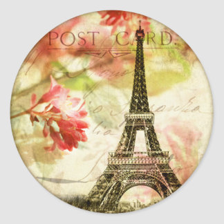 Paris, Eiffel Tower Classic Round Sticker