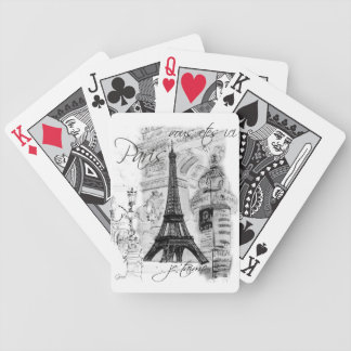 Paris Eiffel Tower Collage Deck Of Cards