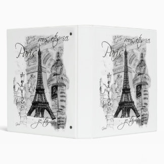 Paris Eiffel Tower Collage Scene Binder