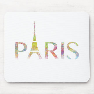 Paris Eiffel Tower Colour Splash Mouse Pad