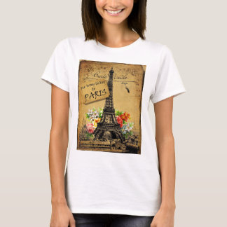 Paris Eiffel Tower Cotton T Shirt Top