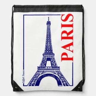 Paris-Eiffel Tower Drawstring Bag