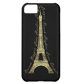Paris Eiffel Tower Dream Bigger Inspirational iPhone 5C Case