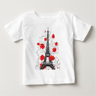 Paris Eiffel tower elegant stylish silhouette Tees