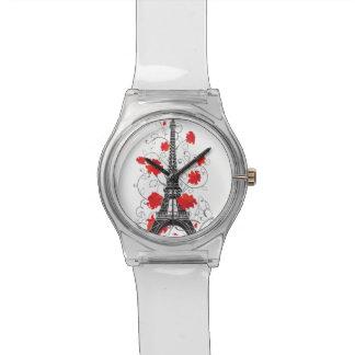 Paris Eiffel tower elegant stylish silhouette Wrist Watches