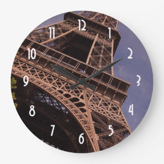 Paris Eiffel Tower Famous Landmark Photo Large Clock