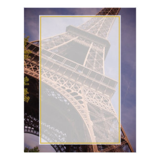 Paris Eiffel Tower Famous Landmark Photo Letterhead