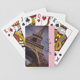 Paris Eiffel Tower Famous Landmark Photo Playing Cards