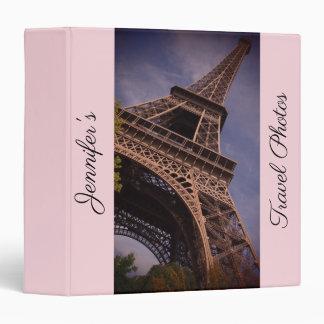 Paris Eiffel Tower Famous Landmark Photo Vinyl Binders