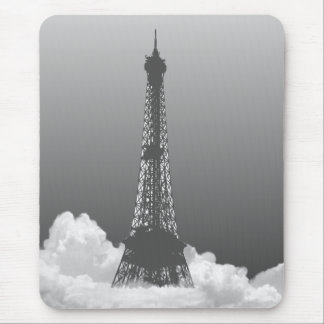 Paris Eiffel Tower Floats in Cloud Mousepad