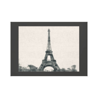 Paris, Eiffel Tower, France, illustration Canvas Print