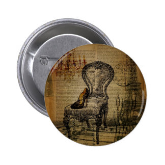 paris eiffel tower french regency rococo 2 inch round button