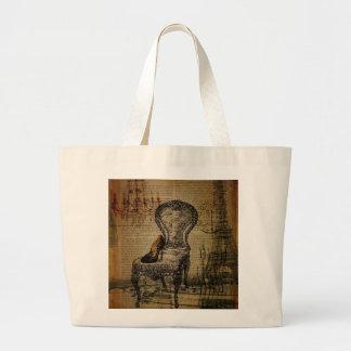 paris eiffel tower french regency rococo jumbo tote bag