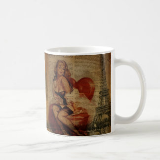 paris eiffel tower girls night out bachelorette coffee mug