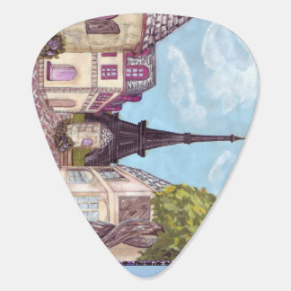 Paris Eiffel Tower inspired art guitar pick
