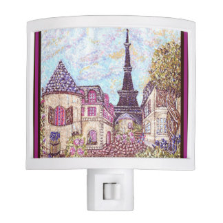 Paris Eiffel Tower inspired landscape night light