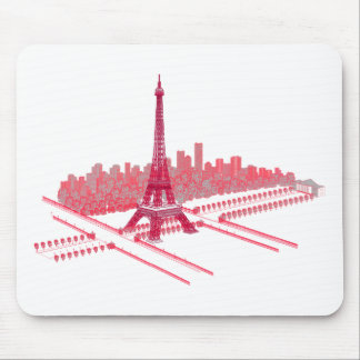Paris Eiffel Tower Modern Sketch Mouse Pad