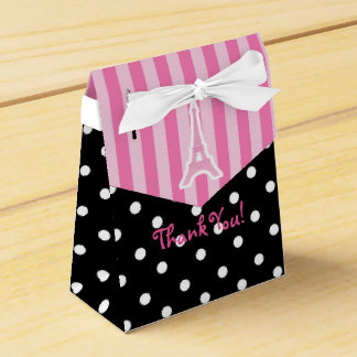 Paris Eiffel Tower Pink Birthday Party Favor Bag Favor Box