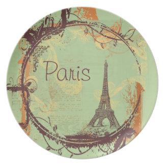 Paris eiffel Tower Plates
