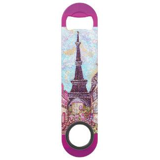 Paris Eiffel Tower Pointillism speed bottle opener