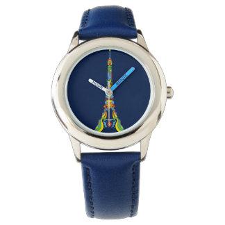 Paris Eiffel tower pop-art stylish silhouette Wristwatches