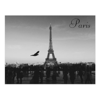 Paris, Eiffel Tower, postcard