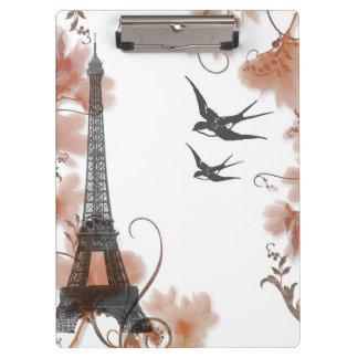 Paris Eiffel tower romance clipboard