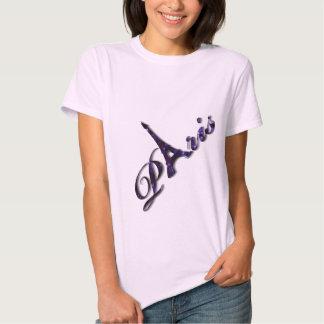 Paris Eiffel Tower Sequin Glitter Sparkle T-shirt