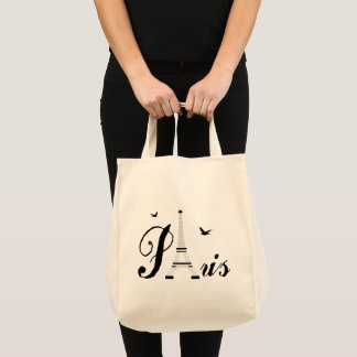 Paris Eiffel Tower Shopping Tote Bag