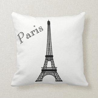 Paris Eiffel Tower Silhouette Front/ Xray Back Throw Pillow
