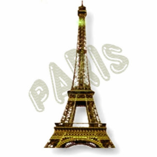 Paris Eiffel Tower Standing Photo Sculpture