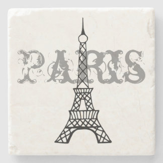 Paris Eiffel Tower Stone Drink Coaster Gift