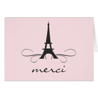 Paris Eiffel Tower Thank You Note card