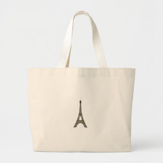 Paris: Eiffel Tower: Vector Drawing: Large Tote Bag